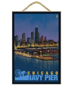 Chicago, Illinois - Navy Pier and Chicag
