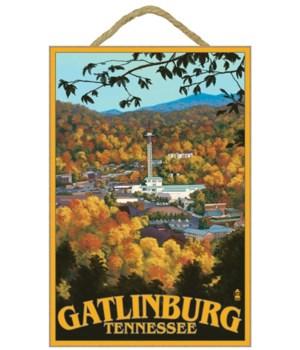 Gatlinburg, Tennessee Town Scene - Lante