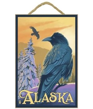 Ravens - Alaska - Lantern Press 7x10 Ori