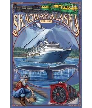 Skagway, Alaska Montage (Ship) - Lantern