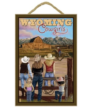 Wyoming Cowgirls - Lantern Press 7x10 Po
