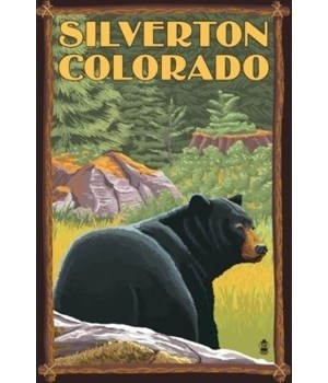 Silverton, Colorado - Bear in Forest - L