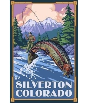 Silverton, Colorado - Fishing Scene - La