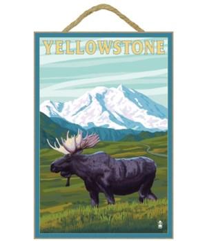Yellowstone Nat'l Park - Moose & Mountai