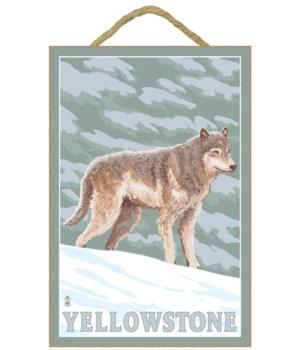 Yellowstone Nat'l Park - Wolf Scene - La