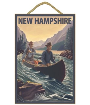New Hampshire - Canoe on Rapids - Lanter