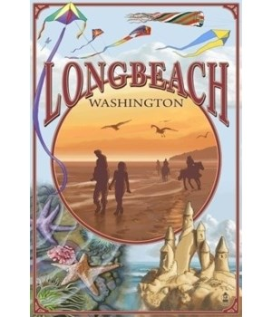 Long Beach, Washington - Beach Montage -