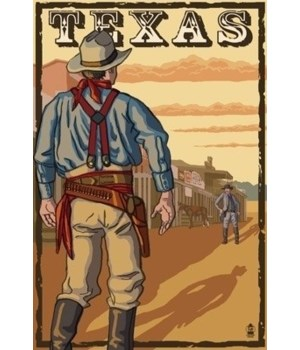 Texas Cowboy Standoff - Lantern Press 7x