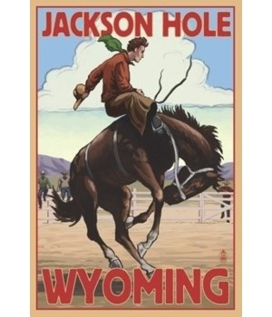 Jackson Hole, Wyoming Bucking Bronco - L