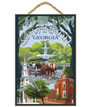 Savannah, Georgia Town Views - Lantern P