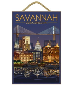 Savannah, Georgia at Night - Lantern Pre