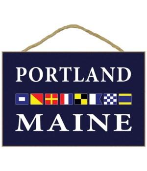 Portland, Maine - Nautical Flags