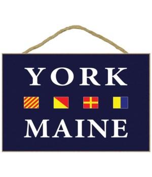 York, Maine - Nautical Flags