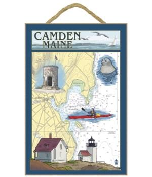 Camden, Maine - Nautical Chart - Lantern