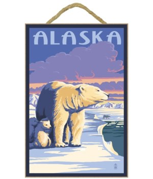 Alaska - Polar Bear at Sunrise - Lantern
