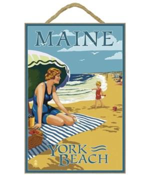 York Beach, Maine - Beach Scene - Lanter