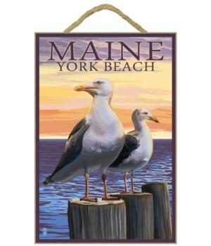 York Beach, Maine - Seagull - Lantern Pr