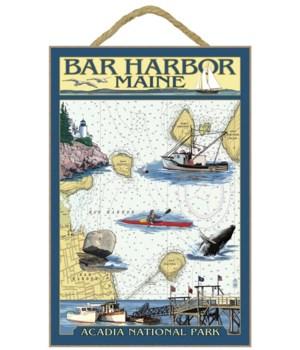 Bar Harbor, Maine - Nautical Chart - Lan