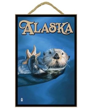 Alaska - Sea Otter - Lantern Press 7x10
