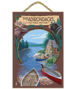 Old Forge, New York - The Adirondacks Sc