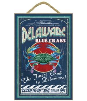 Delaware Blue Crabs Vintage Sign - Lante