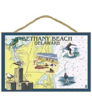 Bethany Beach, Delaware - Nautical Chart