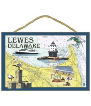 Lewes, Delaware - Nautical Chart - Lante