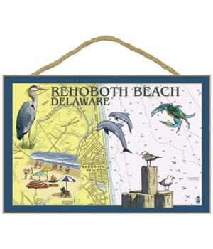 Rehoboth Beach, Delaware - Nautical Char