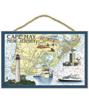 Cape May, New Jersey - Nautical Chart -