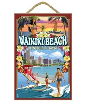 Waikiki Beach, Oahu, Hawaii - Scenes - L