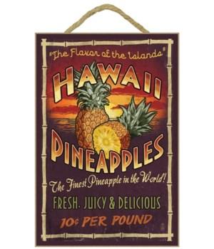 Hawaiian Pineapple Vintage Sign - Lanter