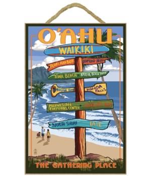 Waikiki, Oahu, Hawaii - Sign Destination
