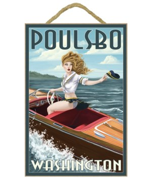 Poulsbo, Washington - Boating Pinup Girl