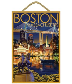 Boston, Massachusetts - Skyline at Night