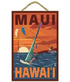 Maui, Hawaii - Windsurfers Scene at Suns