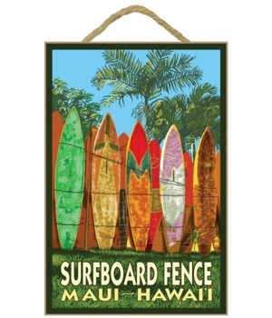 Maui, Hawaii - Surfboard Fence - Lantern