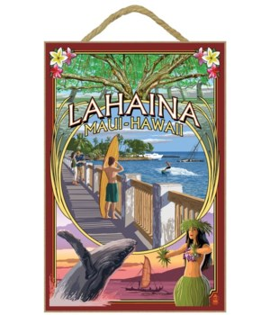 Lahaina, Maui, Hawaii - Town Scenes Mont