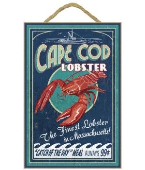 Cape Cod, Massachusetts - Lobster Vintag