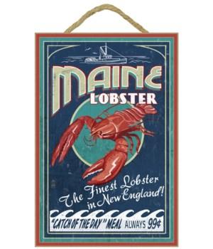 Maine Lobster Vintage Sign - Lantern Pre