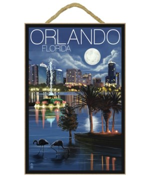 Orlando, Florida - Skyline at Night - La