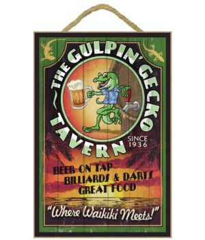 Hawaii - Gulpin' Gecko Tavern Vintage Si
