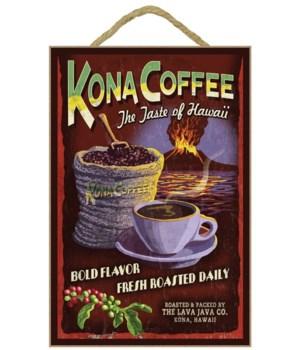 Kona Coffee Vintage Sign - Hawaii - Lant