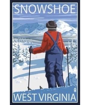 Snowshoe, WV - Skier Admiring View