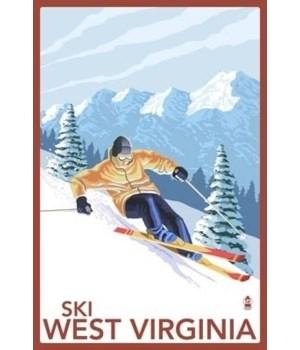 West Virginia - Downhill Skier Scene