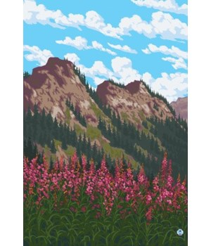 Fireweed and Mountains - Lantern Press 7