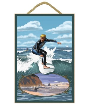 Day Surfer with Inset - Lantern Press 7x