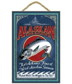 Ketchikan, Alaska - Salmon Vintage Sign