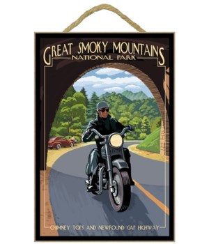Motorcycle & Tunnel - Great Smoky Mounta