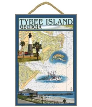 Tybee Island, Georgia - Nautical Chart -