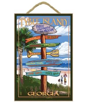 Tybee Island, Georgia - Destination Sign